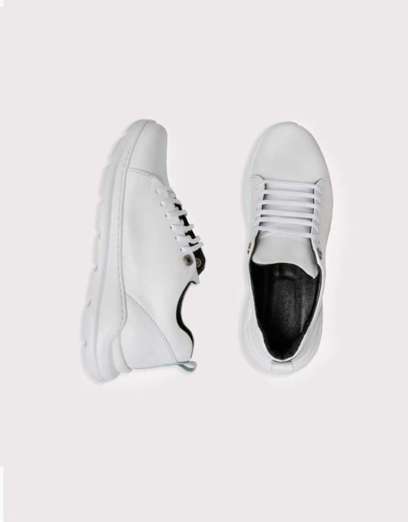 Ανδρικά Δερμάτινα Αθλητικού τύπου Sneaker Λευκό