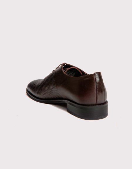 Ανδρικά Δερμάτινα Κλασσικά Χειροποίητα Δετά Παπούτσια Καφέ χρώμα