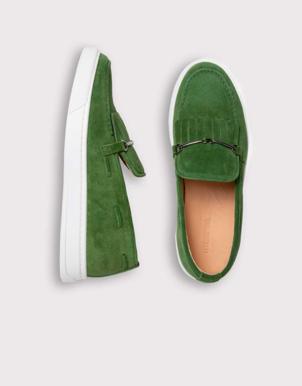 Ανδρικό Καστόρινο Πράσινο Μοκασίνι, Loafer, Slip – On