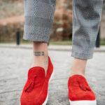 Ανδρικό Κόκκινο Μοκασίνι, Loafer, Slip – On