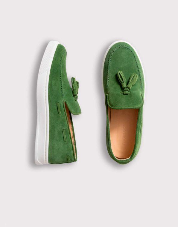 Ανδρικό Πράσινο Μοκασίνι, Loafer, Slip – On