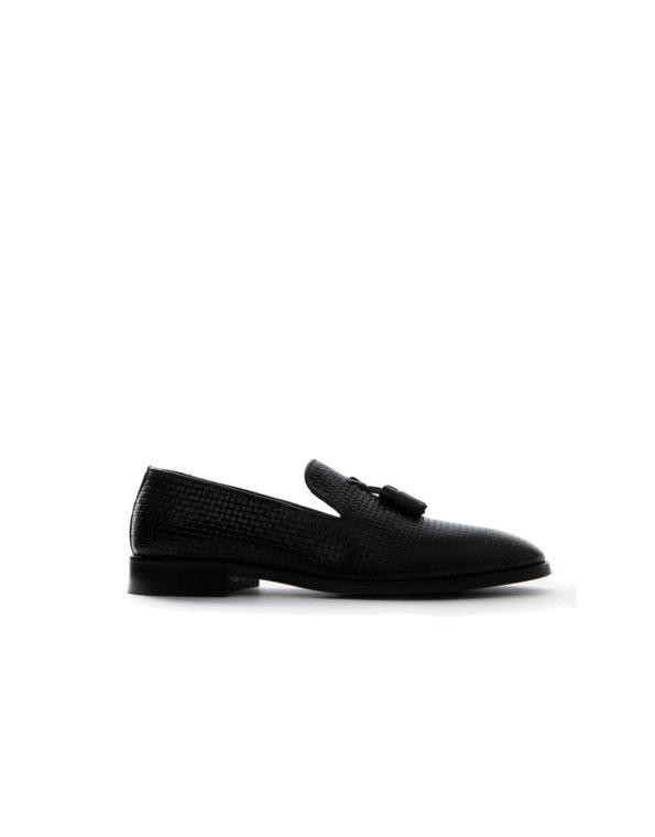 Κλασσικά Δερμάτινα Ανδρικά Loafers – Μαύρο