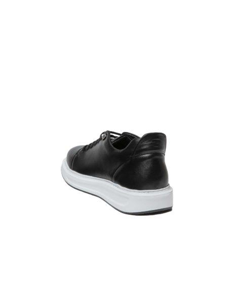 Ανδρικά Δερμάτινα Sneaker Μαύρο