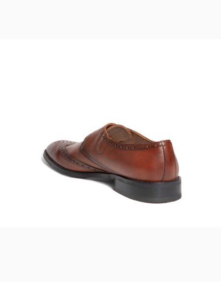 Ανδρικά Δερμάτινα Κλασσικά Χειροποίητα Παπούτσια με Αγκράφα Ταμπά Ματ χρώμα