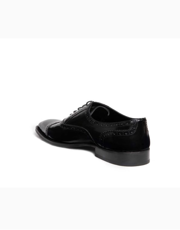 Ανδρικά Δερμάτινα Κλασσικά Χειροποίητα Δετά Παπούτσια Μαύρο Χρώμα