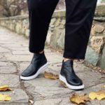 Ανδρικό Ημίμποτο Δερμάτινο, Chelsea τύπου Sneaker