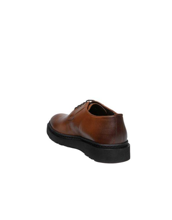 Ανδρικά Δερμάτινα Δετά Παπούτσια, Ταμπά χρώμα Derby τύπου