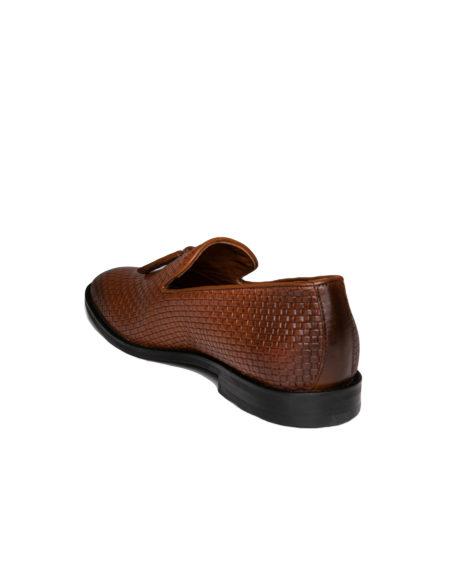 Κλασσικά Δερμάτινα Ανδρικά Loafers - Taba
