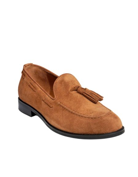 Ανδρικό Κλασσικό Loafer Suede Leather - Taba