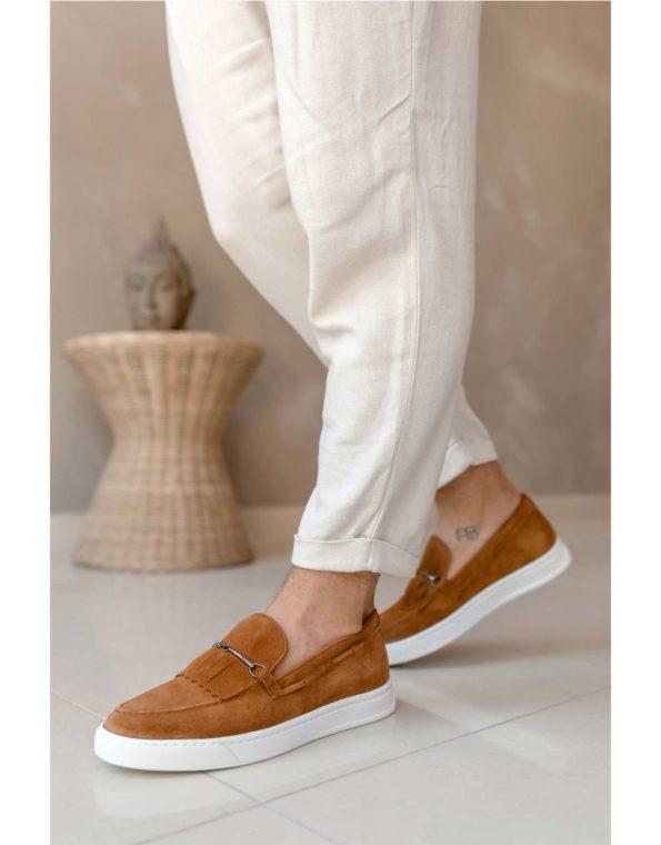 Ανδρικά Slip-On Suede Leather – Taba
