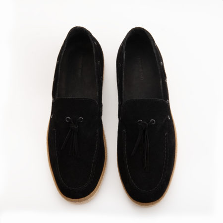 Loafer Espadrilla Suede Leather - Black