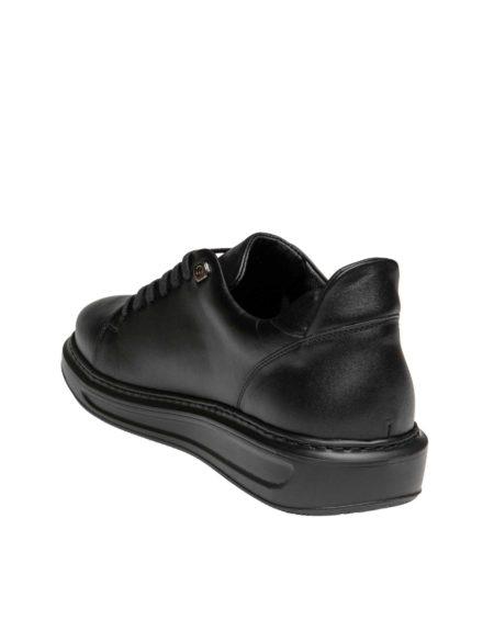 Δερμάτινο Sneaker Ανδρικό - Total black
