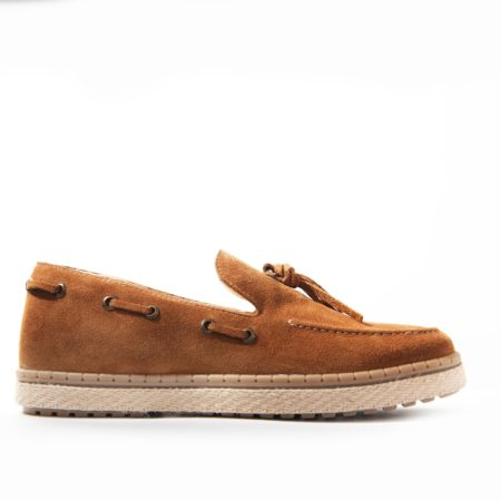 Loafer Espadrilla Suede Leather - Taba