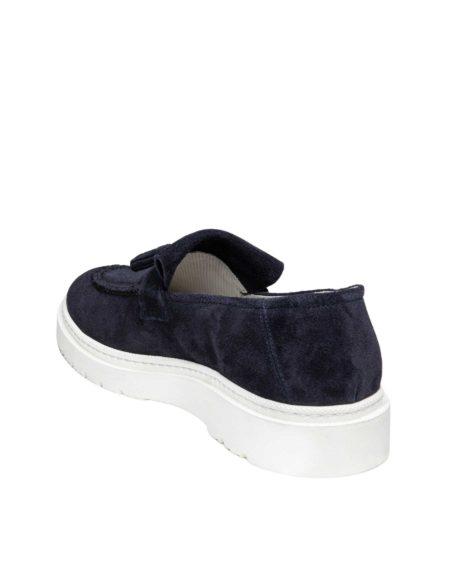 Ανδρικά Suede Leather Loafers Navy