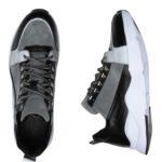 Ανδρικό Γκρι Δερμάτινο Sneaker
