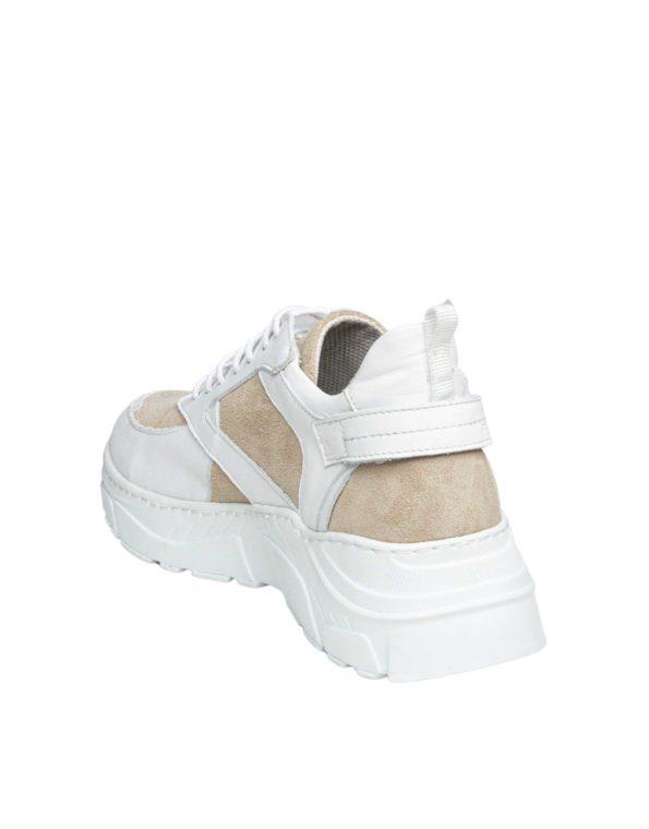 Γυναικείο Δερμάτινο Half-Suede Sneaker