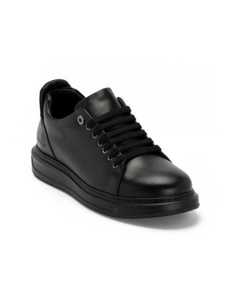 Ανδρικά Δερμάτινα Sneaker Total Black