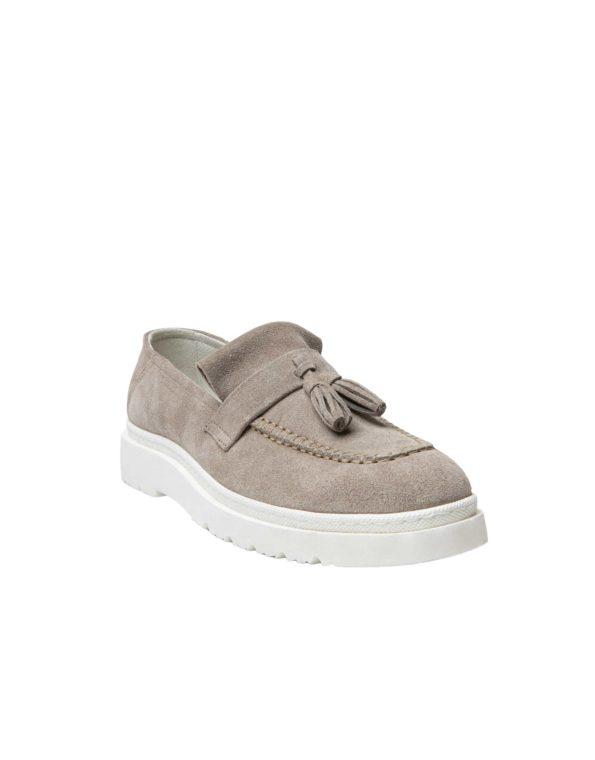 Ανδρικά Suede Leather Loafers Taupe – (1928A Taupe)