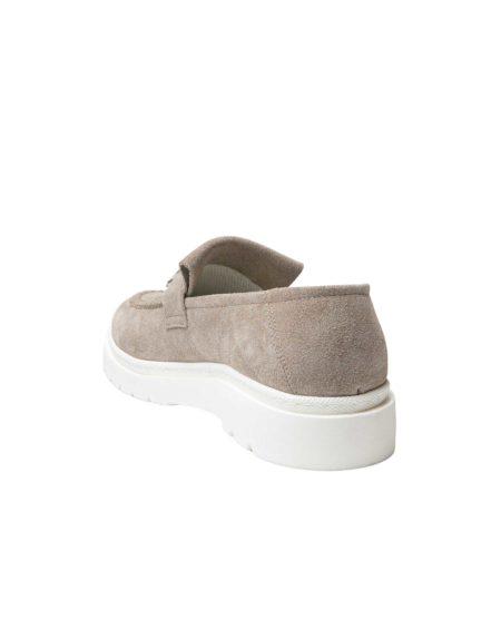 Ανδρικά Suede Leather Loafers Taupe - (1928A Taupe)