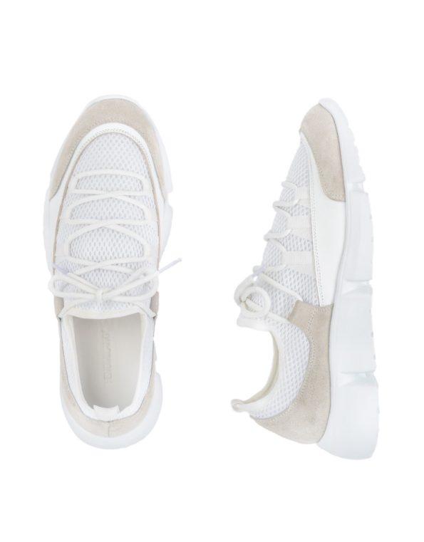 Ανδρικά Sneakers Υφασμάτινα Με Κορδόνια Αθλητικού Τύπου – Λευκά