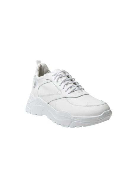 Γυναικείο Δερμάτινο Λευκό Sneaker (2025 - White)