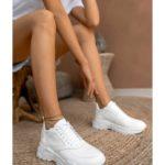Γυναικείο Δερμάτινο Λευκό Sneaker (2025 – White)