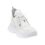 Γυναικείο Δερμάτινο Total White Sneaker