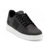 Ανδρικά Δερμάτινα Sneakers Μαύρα - ( 2229 Black/Grey)