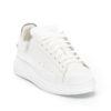 Ανδρικά Δίπατα Δερμάτινα Sneakers Λευκά - (462214-2 White)