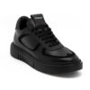 Ανδρικά Δερμάτινα Sneakers Μαύρα - (2222 T. Black)